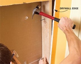 Photo 4: Add backing to support drywall