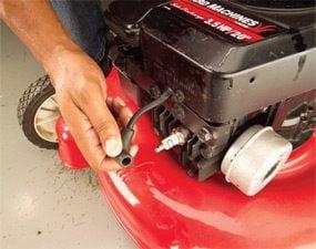 Photo 1: Remove spark plug
