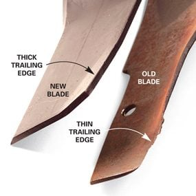 new vs old mower blade comparison