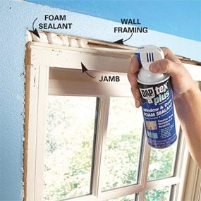 Photo 4: Fill gaps with foam sealant