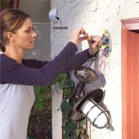 Installing A Remote Motion Detector For Lighting The