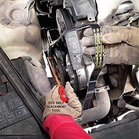 Install the new serpentine belt.
