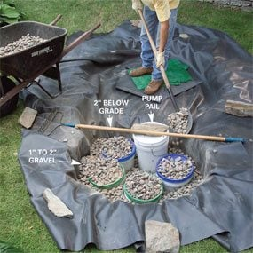 Photo 7: Spread gravel around the buckets