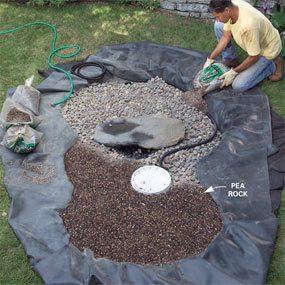 Photo 9: Spread the pea gravel