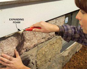 Photo 7: Trim foam when hard