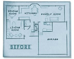 The old kitchen layout.