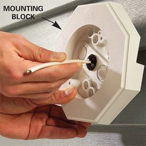 Vinyl Siding Lights: How to Mount Lights Using a Vinyl Mounting Block