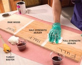 how to clean raw wood before staining