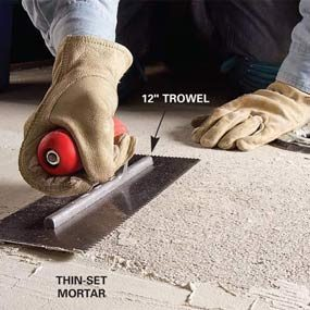 How To Remove Tile From A Concrete Floor The Family Handyman - Best chisel for removing tile