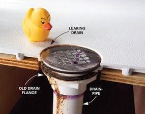 Shower Drain Seal Leaking