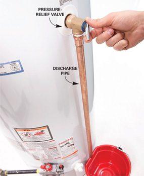 Photo 1: Check the pressure-relief valve