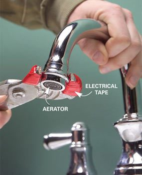 Photo 1: Unscrew the aerator