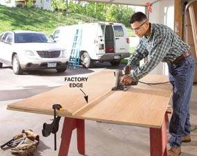 Photo 1: Rip the plywood sheets