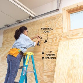Photo 3: Install upper plywood