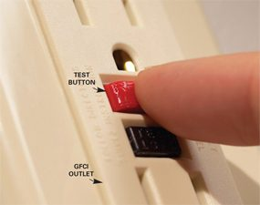 Reset your GFCI electrical outlets