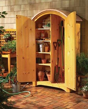 Build a handsome outdoor cabinet