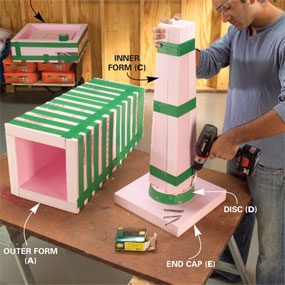 Photo 2: Assemble the column