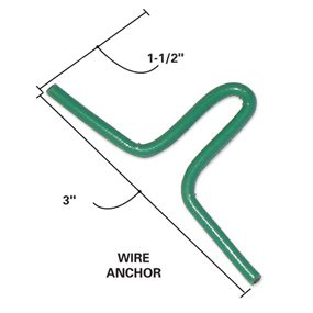 Place the wire anchors in the basin form.