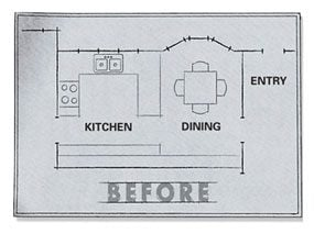Before kitchen floor plan