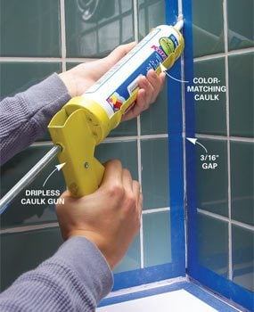 Regrout Wall Tile The Family Handyman - Regrouting bathroom shower tile