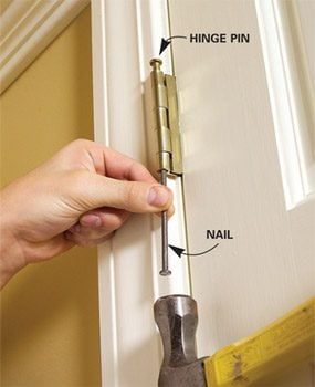 How to Remove a Door : pin door - pezcame.com