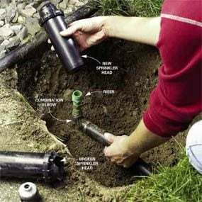 Replace a sprinkler head