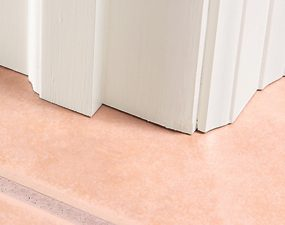 Tile under casing