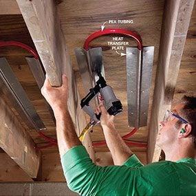 Photo 1: Under-floor technique