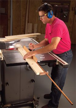 Table saw extension fence and stop block