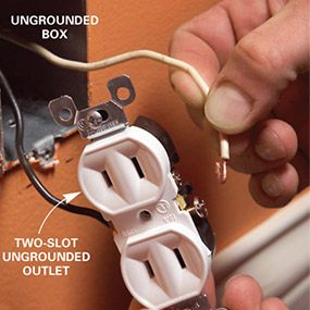 Solution: Install a two-slot outlet
