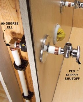 Photo 12: Use angle fittings for tight turns