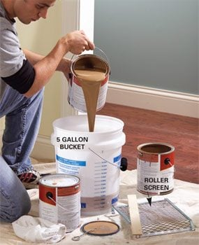 Photo 1: Mix cans of paint