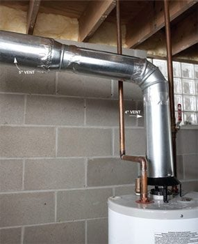 New gas vent system