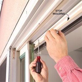 Photo 2: Remove stop molding