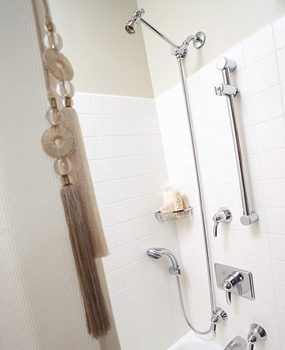 Shower curtain pull