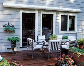 How To Shade Your Deck Or Patio With A Diy Awning The Family Handyman
