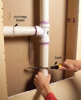 Tricks for Splicing Plastic Drain Pipe