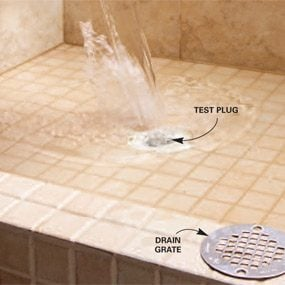 Find and repair hidden plumbing leaks the family handyman for Bathroom shower leak repair