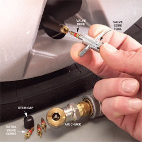 Fix a Leaking Tire Valve Stem in 2 Steps