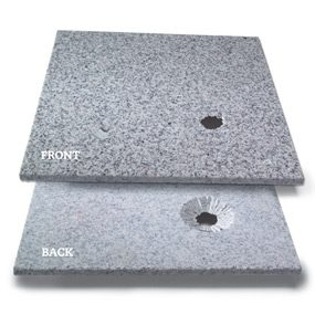 Small holes in stone tile