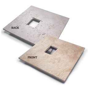 Rectangular cutouts in stone tile