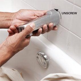 Photo 2: Remove the spout