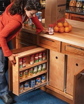 Bon Build Organized Lower Cabinet Rollouts For Increased Kitchen Storage
