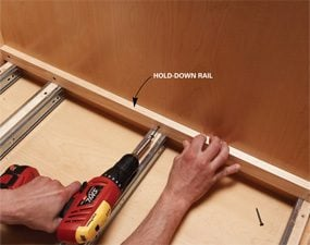 Photo 7: Add the hold-down rail