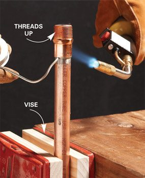 soldering copper pipe soldering copper pipe the family handyman 10094