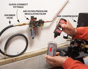 Photo 4: Connect the compressor
