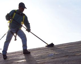 Photo 11: Clean off the roof