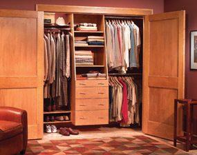 Use a closet organizer system