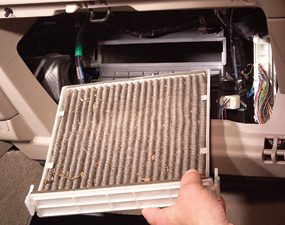 Replace the air filter annually