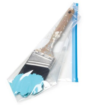 Seal brushes in a freezer bag